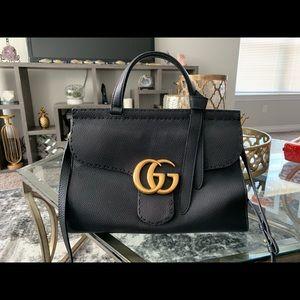 Gucci Marmont Large Top-handle Vulcanic Satchel